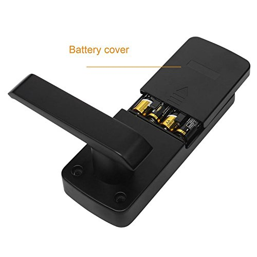 Touchscreen Electronic Keyless Smart Lever Door Lock with Reversible Handle,Keypad Digital Security Entrance Lock, Black