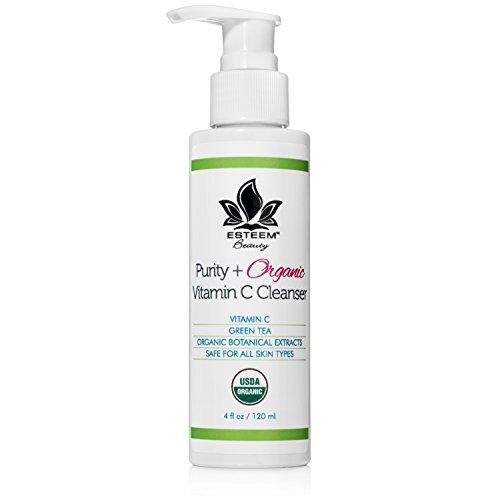 Purity + Organic Vitamin C Face Wash - Anti Aging Facial Cleanser | Green Tea | Aloe Vera | Lemon Peel Oil | Sulfate Free