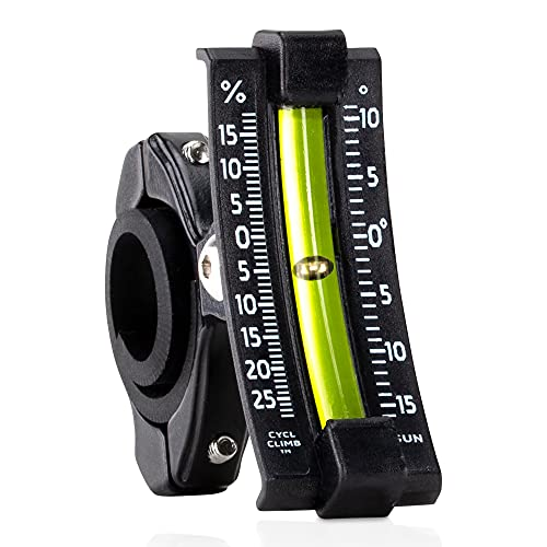 Sun Company CyclClimb - Bike Inclinometer | Handlebar Slope Meter for Bicycles | Measures Trail Incline and Decline