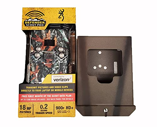 Browning Trail Cameras Pro Scout Verizon and CAMLOCKbox Security Box
