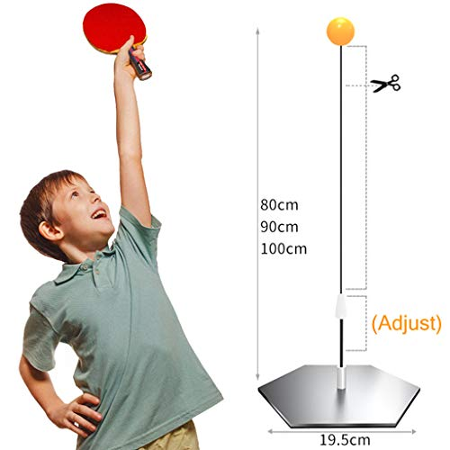 Great Features Of ADKINC Table Tennis Trainer, Pro Rackets, (80~100cm) Flexible Shaft, Ping Pong Bal...