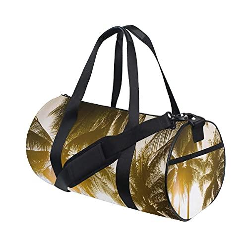 Bolsa de deporte para gimnasio, la mejor bolsa de deporte con estampado de leopardo con compartimento para zapatos y bolsillo húmedo para mujeres o hombres