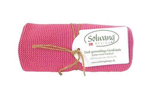 Solwang Handtuch Alt-Rosa, Küchentuch gestrickt aus Baumwolle