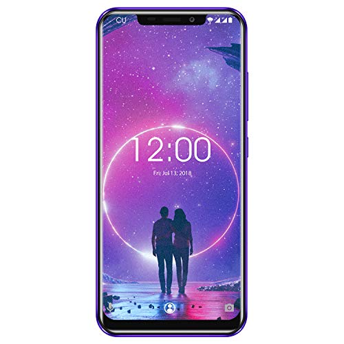 OUKITEL C12 Smartphone Libres, 6.18' 3G Teléfono Móvil, 19:9 Android 8.1 Quad Core 2GB+16GB, Cámara 8MP+2MP & 5MP, Reconocimiento Facial, Sensor de Huella Dactilar
