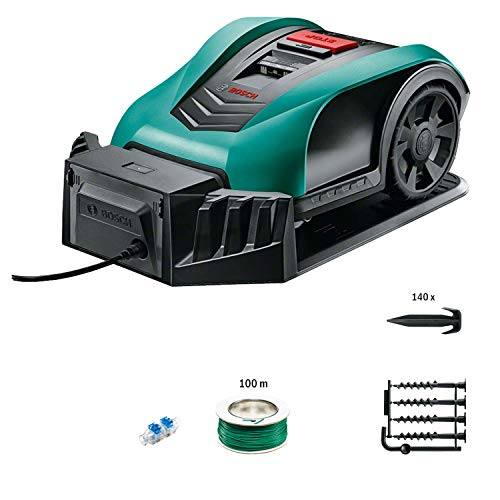 Bosch DIY Lawnmower Robot, 18V, 2.5Ah, up to 350m² Mowing Area per Load, 1 Piece, 06008B0000