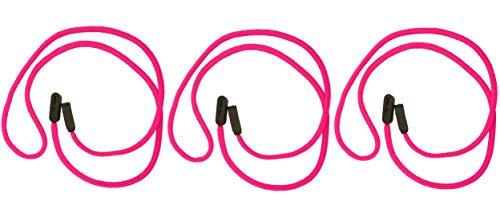 GoGrip GoGrip Brillenband - VALUE PACK - Brillenbänder, Halter-Bügel, Seil Brillen Halter, Brillen Halte System 3/6 Stück (Rosa x 3)