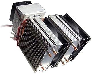 Feketeuki DC 12V Peltier Refrigeración Refrigeración por Aire Radiador Sistema de Bricolaje 20A 180W Semiconductor Refrigerador Aire Acondicionado.Negro.