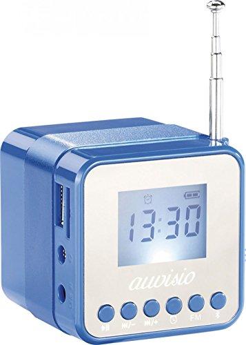 auvisio Mini-MP3-Station MPS-560.Cube mit Radio, Wecker & Bluetooth, 8 Watt