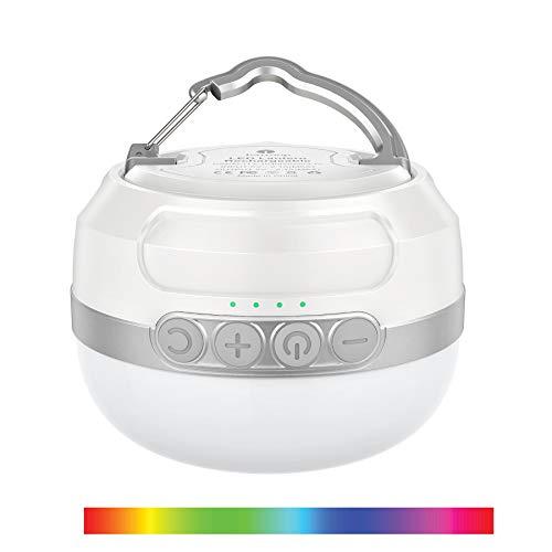 LED Campinglampe RGB mit Taschenlampe,...