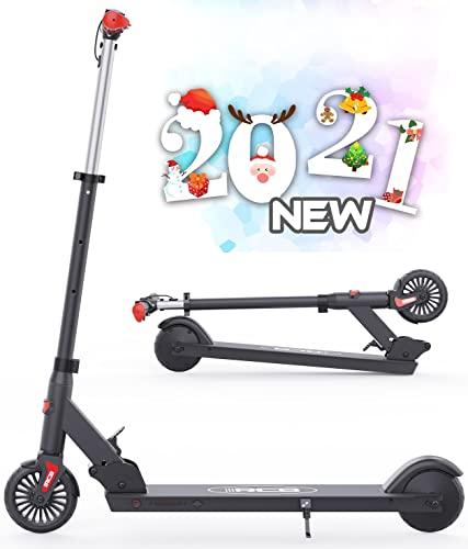 HOVERMAX elektrisk scooter for barn, sammenleggbar og justerbar elektrisk scooter, maksimal hastighet 20 km / t, vektbelastning opptil 80 kg, motor 150 W, gaver til barn og unge