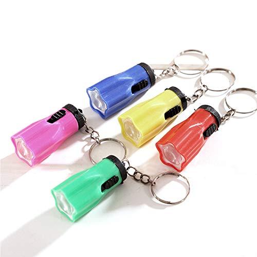 Mini Llavero Linterna, 20PC Llavero Mini Linterna Portátil, Linternas Llavero, Mini Linterna de Juguete, Se Puede Colgar en Mochilas, Mochilas Escolares para Niños (Color Aleatorio)