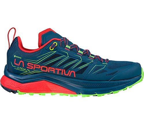 LA SPORTIVA Jackal Woman GTX, Zapatillas de Trail Running Mujer, Opal/Hibiscus, 37 EU