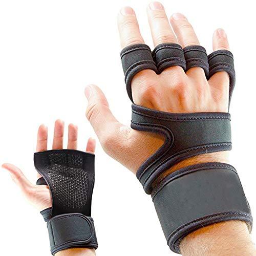Guantes para entrenamiento y gimnasio, CoWalkers guantes de levantamiento de pesas con soporte para la…