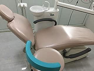 1 Set Khaki Dental Dentist Chair Cover Sleeves Protector Headrest Cushion PU Waterpoof Easy Clean