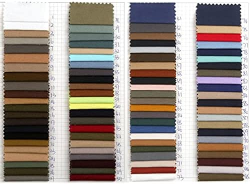 Jennfabric Soft Thick Brushed Cotton Fabric Woven Twill Fabric for Dress Shirts Pants, Black White Red Blue Beige Grey Brown by The Meter - Note for Color No - 155cmX100cm