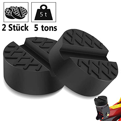 [2 Stück] Wagenheber Gummiauflage Rangierwagenheber, Oulakary Universal Wagenheber Auflage Gummi Jack Pad für Auto Schützt Ihren PKW und SUV