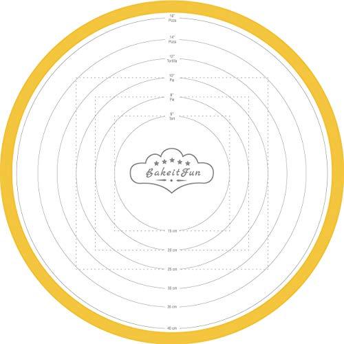 Baking Mat, Round, Large Size, 17 3/4, Yellow