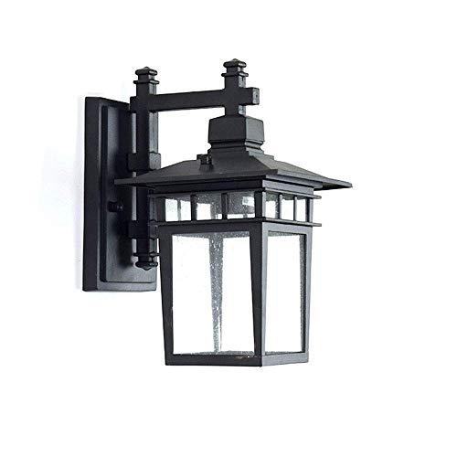 Outdoor wandkandelaar, Black Wall verlichtingsarmaturen, Bouwkundig armatuur met glazen kap for Entryway, Veranda, Doorway, Tuin, Veranda, Villas