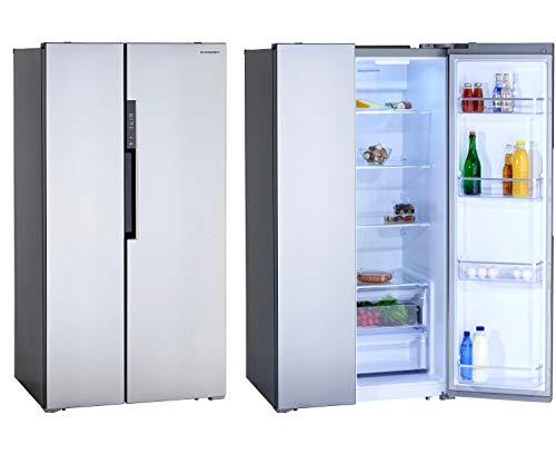 Schneider Side-by-Side SBS612.4A++CSS Inox Design - Frigorífico con congelador (acero inoxidable, 612 L, 178 cm, eficiencia energética: A++)
