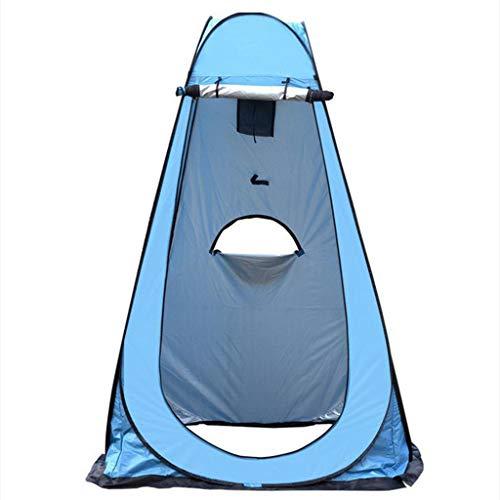 Vollautomatisches Toilettenzelt Umkleidezelt, Camping Duschzelt Outdoor Mobile Toilette Umkleidekabine Lagerzelt, Schnell öffnende Wurfzelte Wasserdicht Tragbares Strand Regenschutz 120X120X190CM (A)