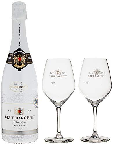 Brut Dargent Sparkling ICE Geschenkpaket mit 2 Gläsern 2015/2016 (1 x 0.75 l)