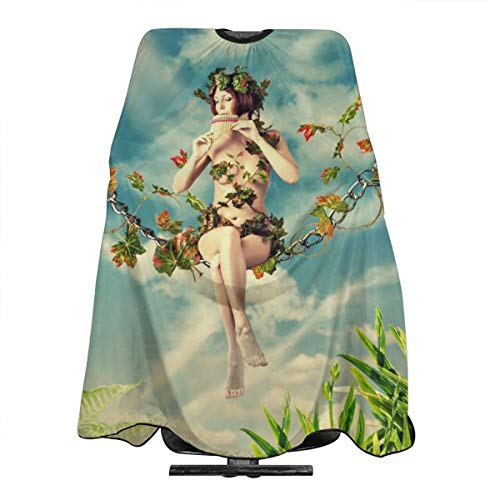 MJhair Young and Beautiful Fairy Swings Haircut Apron Hairdressing Cape Hair Cutting for Men Women Adults