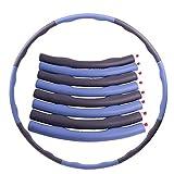 LLKK El aro Hula es fácil de montar para adultos, se puede separar 100 cm, y se puede ajustar para aumentar la forma física, el abdomen y el aro de adelgazamiento Hula