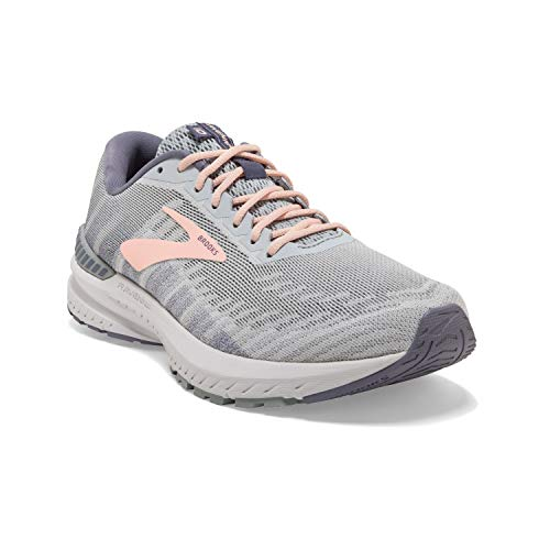 Brooks Women's Ravenna 10, Grey/Pale Peach, 6 B