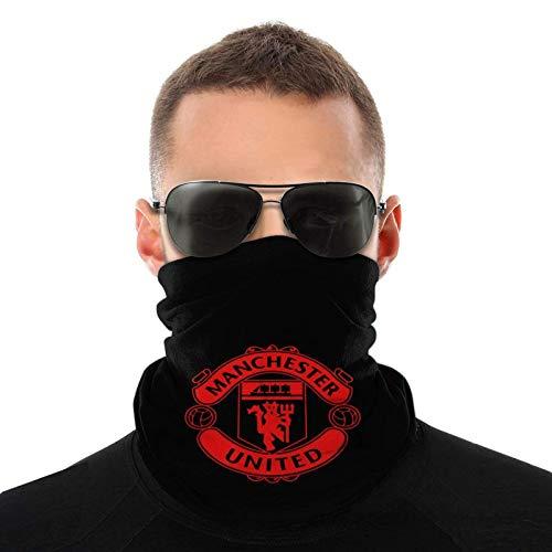 Manchester United Unisex Multifuncional al aire libre al viento Deportes cara Mas-k microfibra cuello polaina bufanda pasamontañas negro