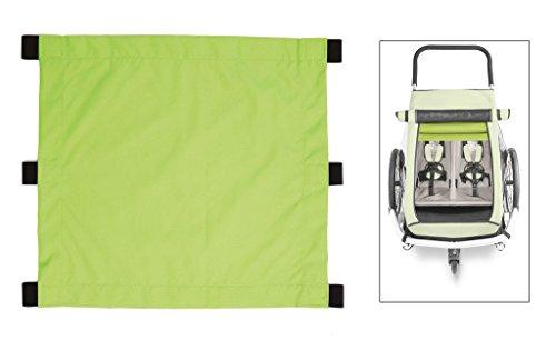 Croozer Unisex– Erwachsene Sonnensegel-3092020601 Sonnensegel, grün, One Size