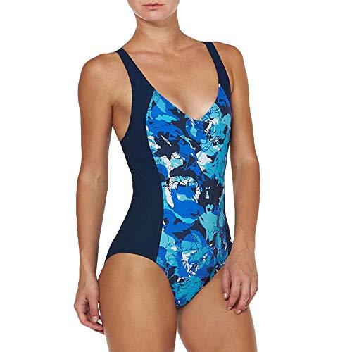 Arena - Bañador ecuatorial de una pieza para mujer, espalda cruzada, color azul marino