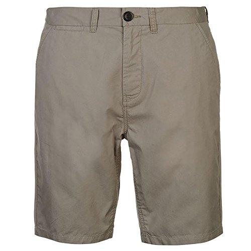 Pierre Cardin Herren Neue Saison 100% Baumwolle Classic Leichter Sommer Chino 5 Taschen Shorts Knopf- und Reißverschlussbefestigung mit Gürtelschlaufen (2XL, Charcoal)