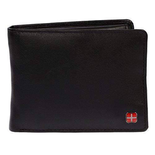 Christian Wippermann RFID echt Leder Herren Damen Geldbörse Portemonnaie 12,5 x 9,5 x 3 cm im querformat