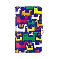 seventwo iPhone7 iPhone 7 スマホケース 手帳型 携帯ケース カードホルダー アイフォン セブン 【F.ブルー】 ねこ 猫柄 動物 animal_039