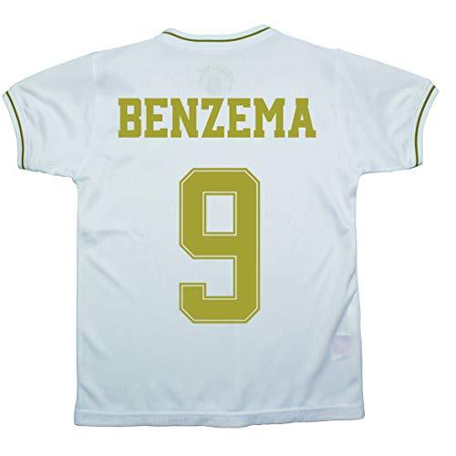 Champion's City Set Shirt und Hose für Kinder zur Erstausstattung – Real Madrid – Replik – Spieler, Jungen, 9 - Karim Benzema, 2 Años