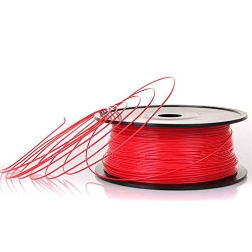 None Brand Material de impresión estable de la impresora 3D del ABS del filamento de 3 mm para Makerbot Reprap rojo oscuro