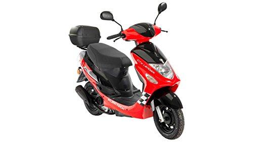 FLEX TECH Motorroller Cityleader, 50 ccm, 45 km/h, mit Topcase