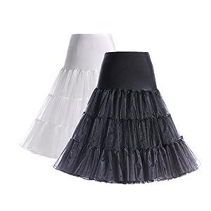 Boolavard 26″ Retro 50s Underskirt Swing Vintage Petticoat Fancy Net Skirt