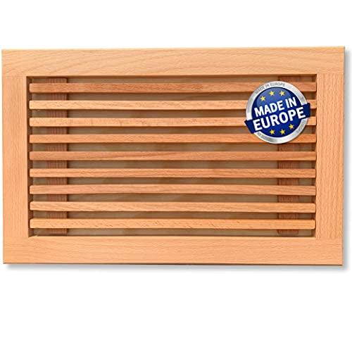 Planche à pain avec ramasse-miettes, planche à découper avec ramasse-miettes, 40 cm x 25 cm, hêtre européen au lieu de bambou, huilé,
