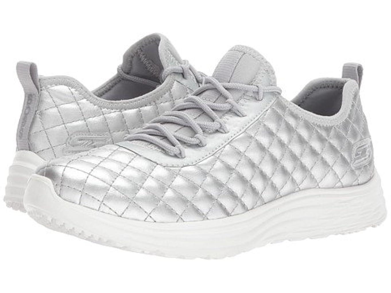 最高雲電卓(スケッチャーズ) SKECHERS レディーススニーカー?ウォーキングシューズ?靴 Bobs Swift - Social Hustle Silver 5.5 22.5cm B - Medium [並行輸入品]
