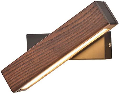 ZJJZ 180 ° AjustableÁngulo Lámpara de Pared de Madera Moderna LED Luz de Pared Creativa Interior Dormitorio Lámparas de Noche Luces de Lectura Estudio Sala de Estar Balcón Hoteles Aplique de luz