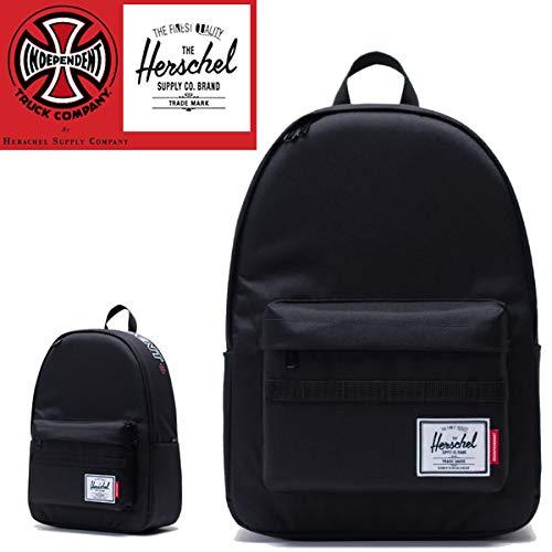 インデペンデント インディペンデント ハーシェルサプライ リュック INDEPENDENT x HERSCHEL コラボ CLASSIC BACKpack XL/ブラック バッグ スケボー リュック【C1】