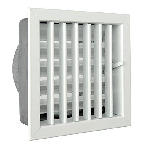 De ventilatie GCSIB1818140 rooster voor open haarden, aluminium gelakt wit, 180 x 180 mm.