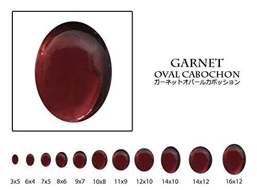 [テソロ] ルースストーン ガーネット [オーバルカボション] 約4x6mm ルース (1個) 裸石 天然石 [並行輸入品]