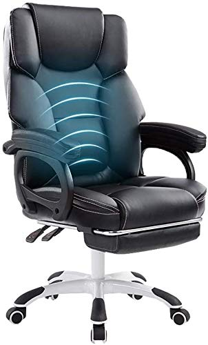 GSN Sillas elevadoras silla reclinable masaje de la cintura LLounge silla telescópica reposapiés PU gruesa esponja apoyabrazos deslizable que soportan el peso de 150 kg adecuados for Ministerio del In