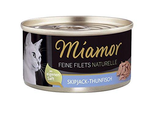 Miamor Feine Filets naturelle Skipjack-Thunfisch, 24er Pack (24 x 80 g)