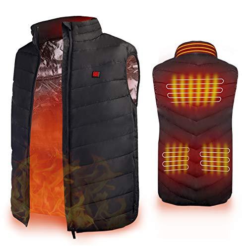 Heated Vest, Enjoyee Warming Heated Vest for Men Women Unisex Electric Heating Vest for Skiing Hunting Fishing (Medium)