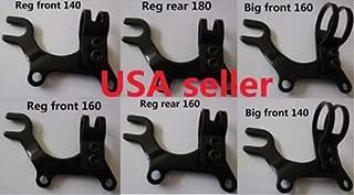8fun Bike Disc Brake Bracket Frame Adaptor Bicycle REG/Big/XL 3 Sizes for 140mm /160mm /180mm disc Brake Rotor