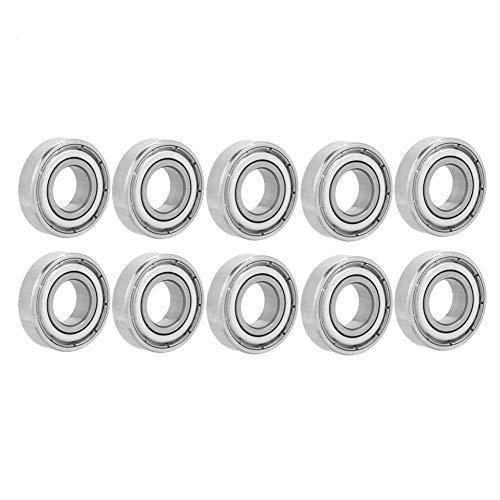Walfront 6900Z Kugellager, doppelt geschirmt, 10 x 22 x 6 mm, Miniatur-Kugellager aus Stahl, 10 Stück