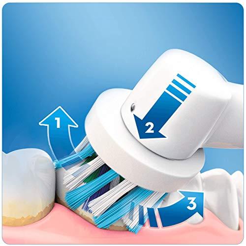 Oral-B Genius 8000N CrossAction - Cepillo Eléctrico, 1 Plata Mango Conectado, 5 Modos Blanqueado, Sensible, Encías, 3 Cabezales, Funda de Viaje Premium